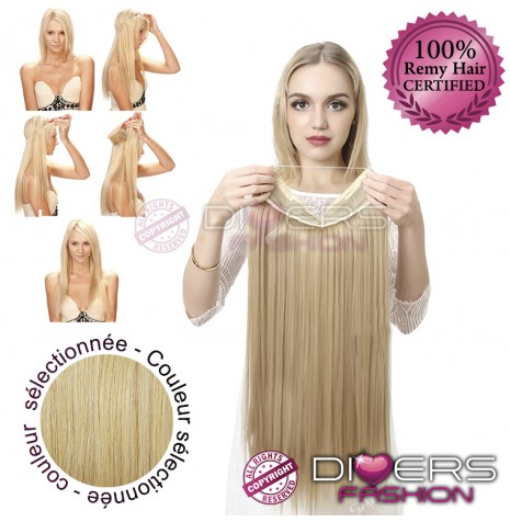 Extensions Fil Invisible Cheveux Lisses