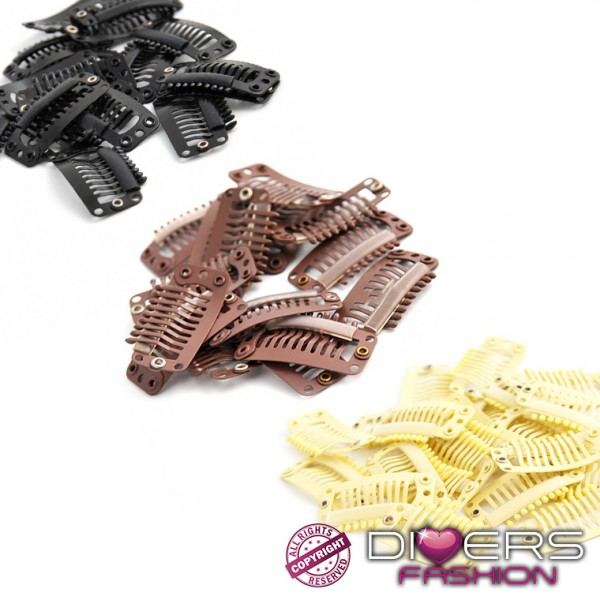 LOT DE 6 CLIPS DE RECHANGE / TISSAGE